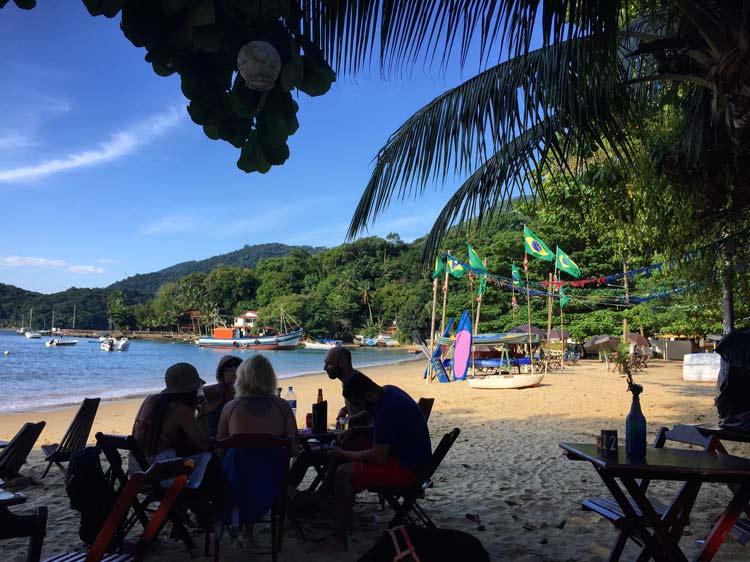 Beachfront bar at Ilha Grande.