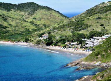 The coast of Ilha Grande in Brazil.