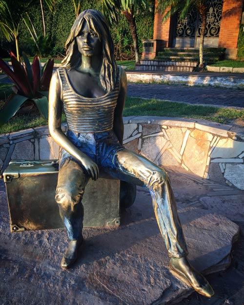 A statue of Brigitte Bardot in the Buzios town center.