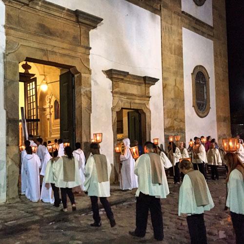Religious ceremony in Paraty.