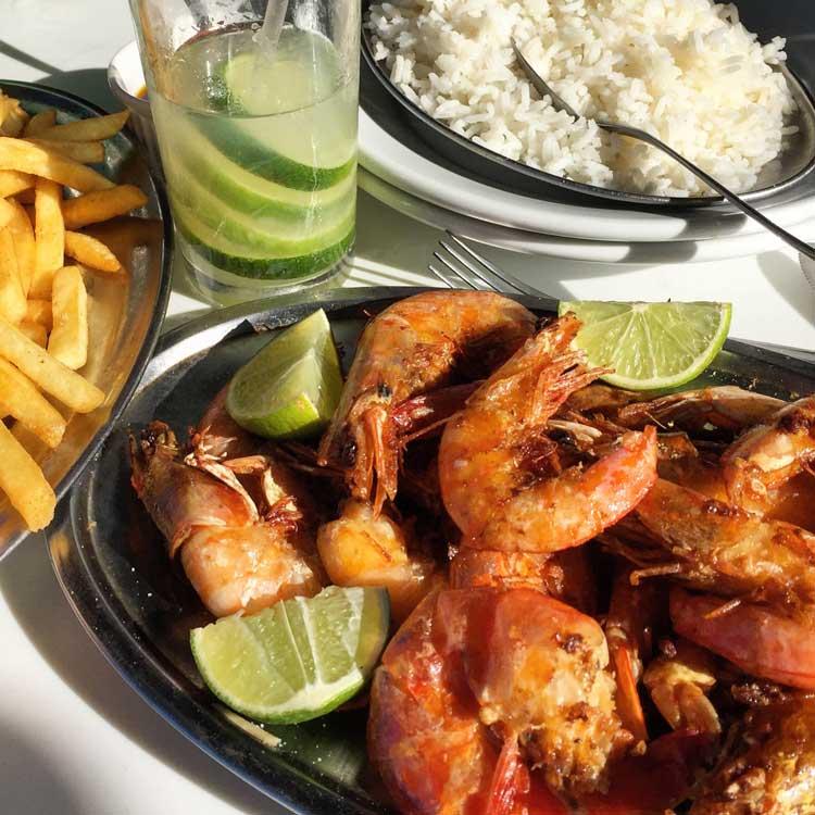 Shrimp and Caipirinhas.