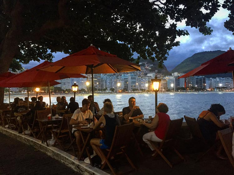 Dining beneath the Forte de Copacabana is one of the most romantic spots in Rio.