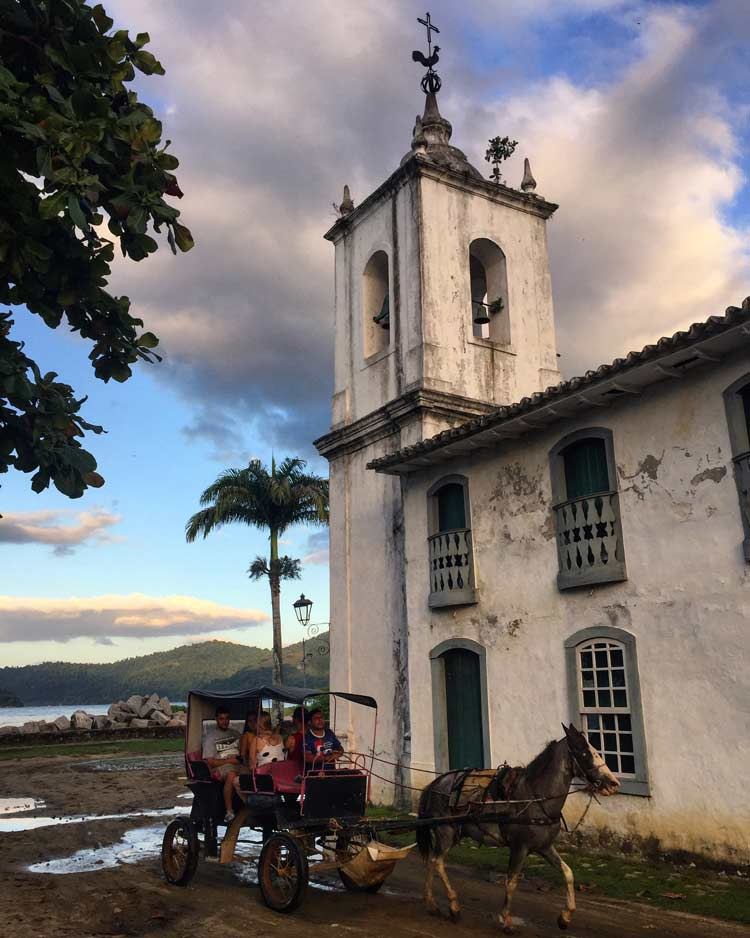 Paraty has horse drawn carriages.