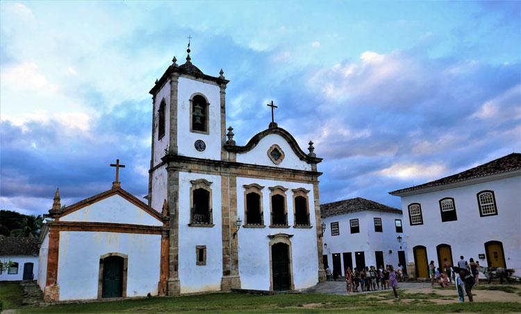 Igreja Santa Rita dos Pardos Libertos church built in 1732 is Paraty's oldest.
