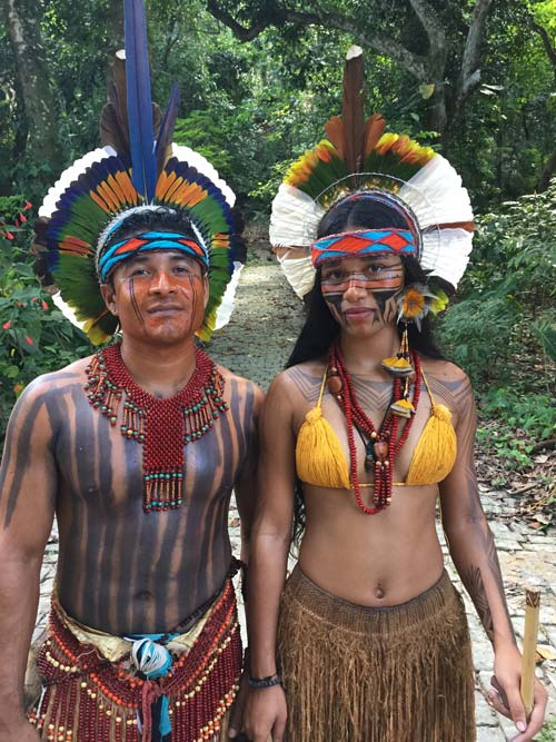 An indigenous people marketplace is held on Saturdays near the Rio Botanic Gardens with dancing, music and crafts from the Amazon.