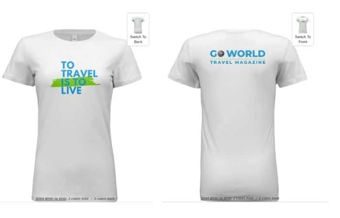 T-shirt to show love of travel