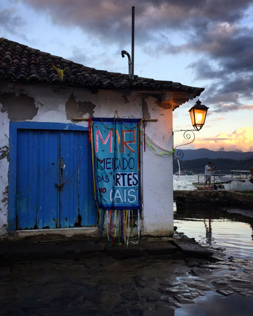 All lighting in Paraty is by old-fashioned lanterns.