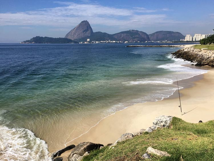 Even in Rio, you can find an isolated deserted beach at Parque do Flamengo.