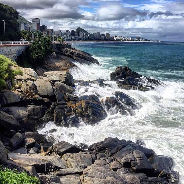 Leblon Beach in Rio De Janeiro, Brazil.