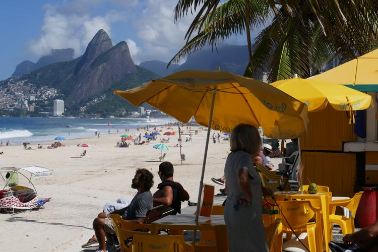 The famed beaches of Rio are a spectacular sight