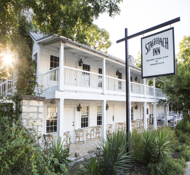 The rustic Stagecoach Inn is listed on the National Register of Historic Places. Photo Stagecoach Inn/Belton Library