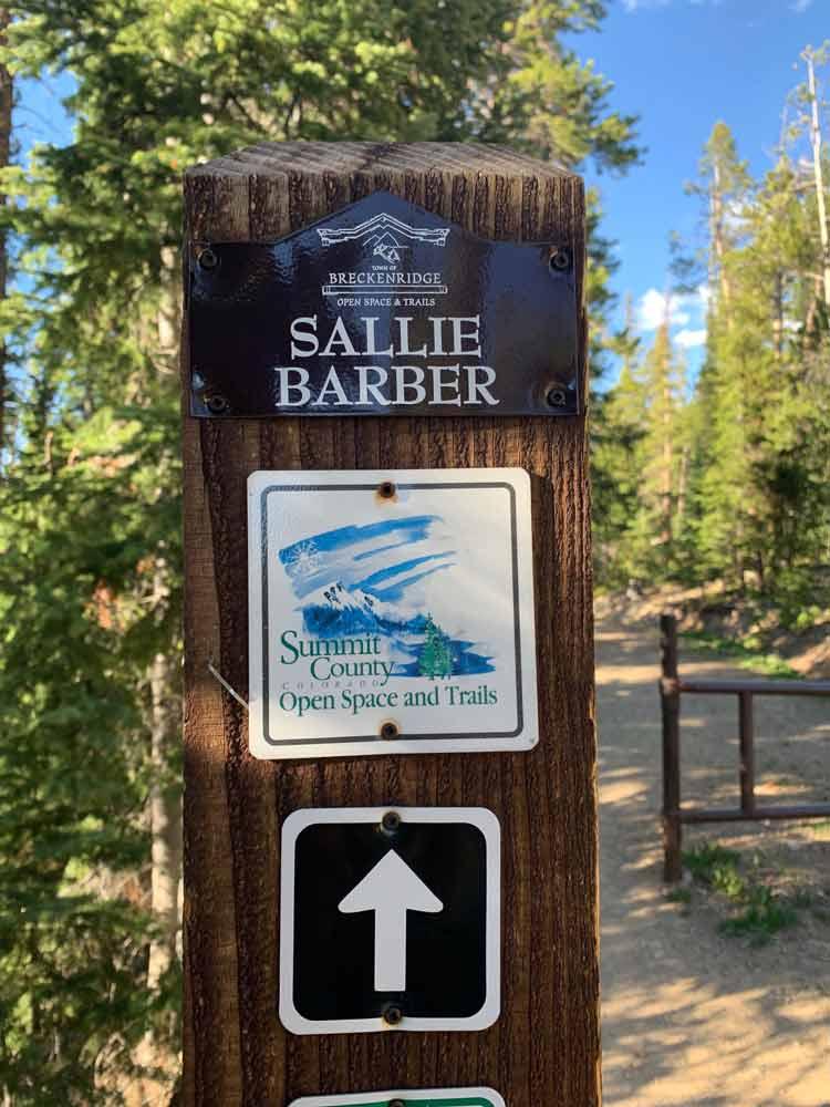 Starting the Sallie Barber Mine Trail in Breckenridge, CO.