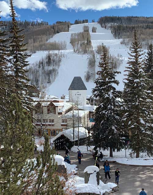 Coming back from the slopes to enjoy Vail Village. Photo by Ann Yungmeyer