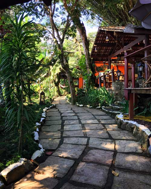There are many beautiful small inns in Vila do Abraao, the only town on Ilha Grande.