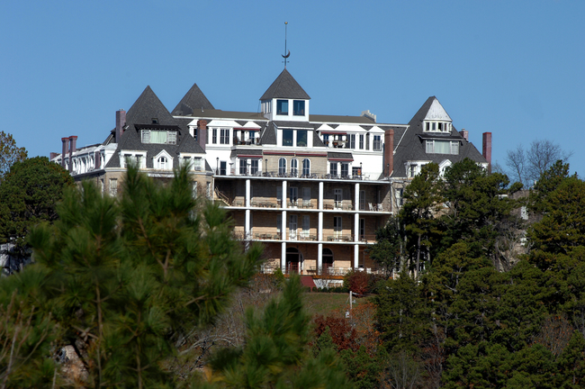 """The 1886 Crescent Hotel & Spa lives up to its nickname of """"Castle in the Air."""" Photo by Bonita Cheshier/Dreamstime.com"""