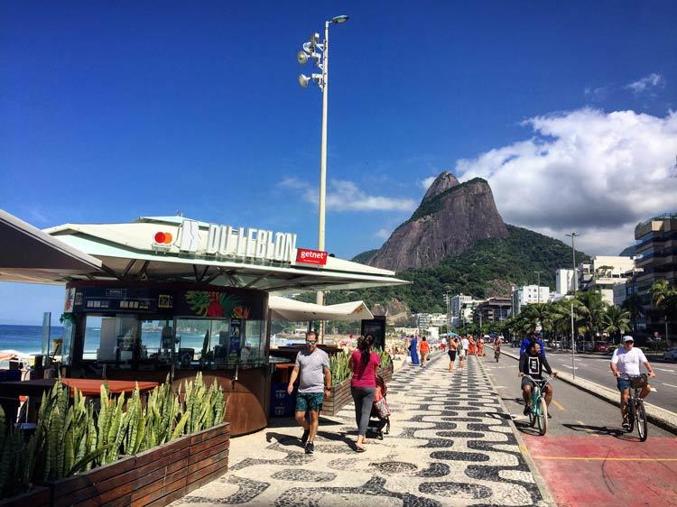 Copocabana Beach in Rio De Janeiro, Brazil.