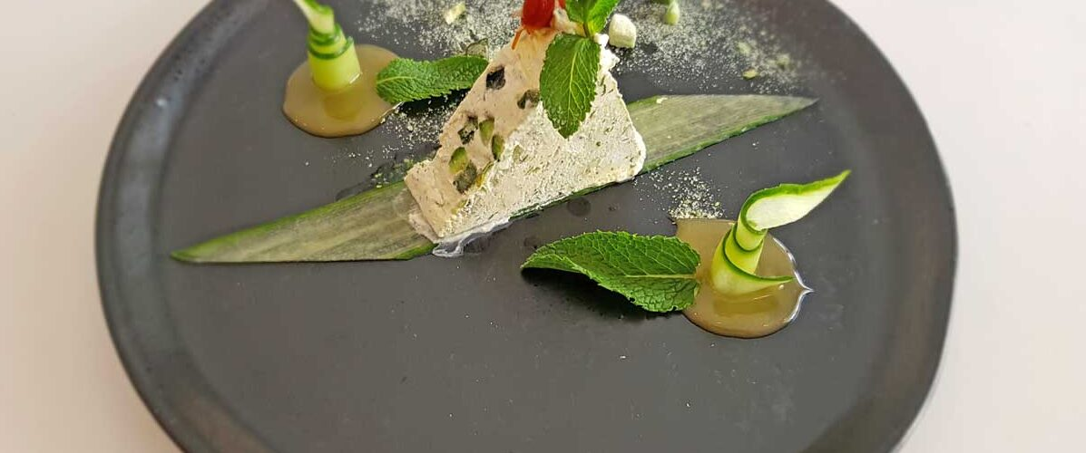 Cucumber ice cream at Gray's House in Lithuania