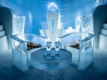 A deluxe suite at the Swedish ICEHOTEL.