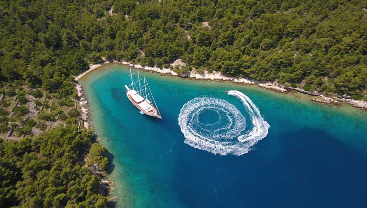 The top gulet cruise destinations are Croatia, Turkey and Greece