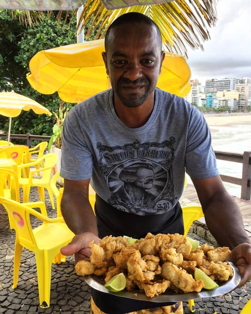 Local battered and fried in Rio.