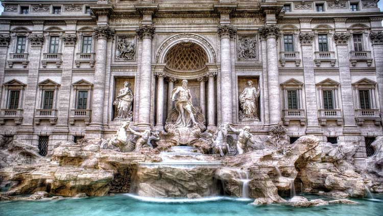 The Trevi Fountain is a top attraction in Rome.