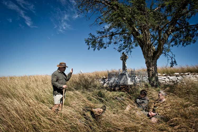 Simon Blackburn Battle stories in the grass.