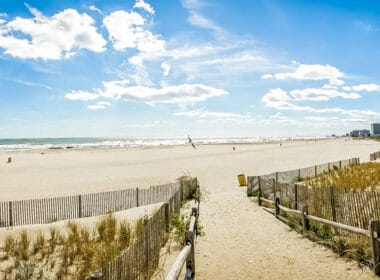 Atlantic City beach in New Jersey.