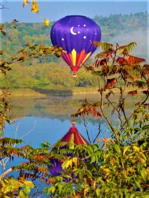 Hot air balloons provide a bird's eye view of the changing color. Photo by Balloons N.E.