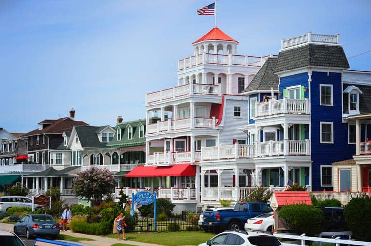 Beach houses in Cape May.