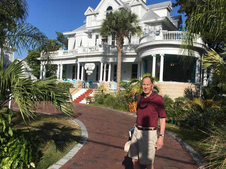 Out front of the Curry Mansion in Key West, FL.