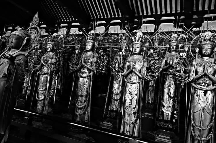 Forest of Buddha statues. photo by Siegfy from flickr
