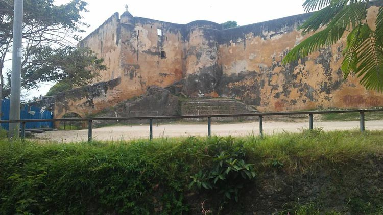 The outside of Fort Jesus in Kenya.