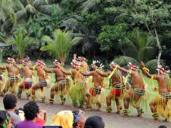Men's Traditional Dance on the island of Yap. Photo by Joyce McClure