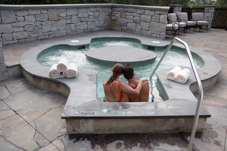 An outdoor spa is just one more enticing activity. Photo courtesy of Mohonk Mountain Resort