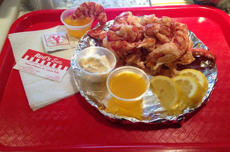 Lobster Roll at Red's Eats. Photo courtesy Red's Eats