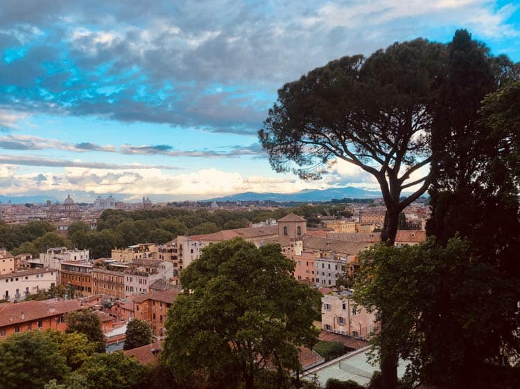 Panoramic view of Rome, Italy. Photo by Anne Schuchman Berrettini
