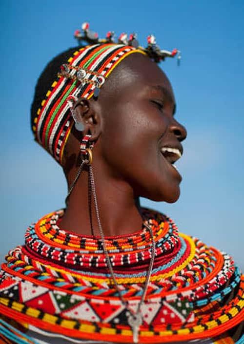 Samburu Woman in her handcrafted Jewelry.