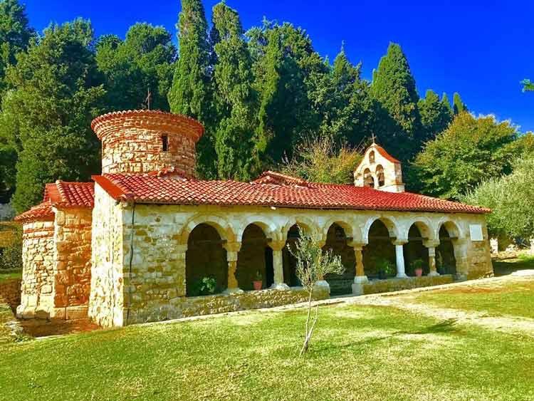 St. Mary's Monastery in Zvârnec, Albania.