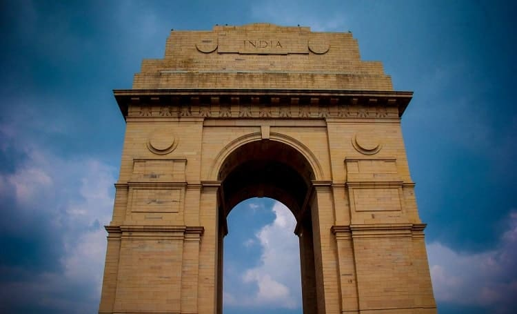 The famous Delhi gate in India