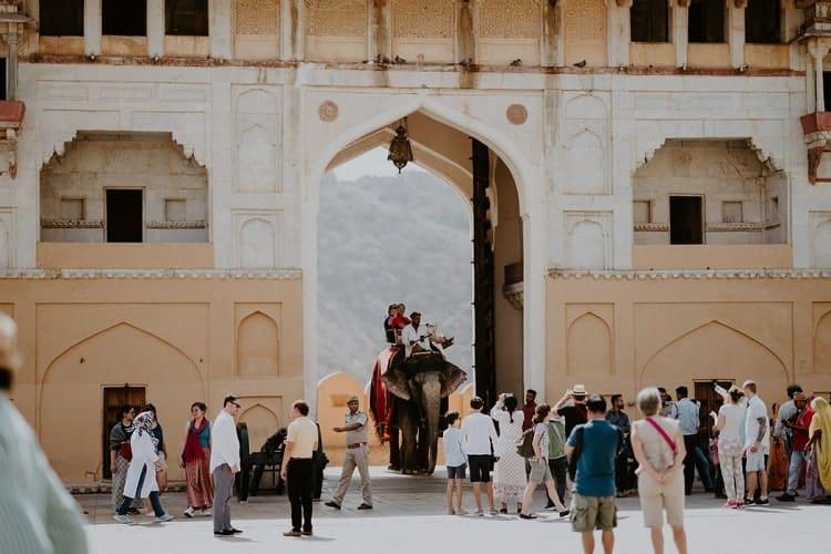 Tourists are roaming around in beautiful Jaipur