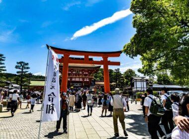 Tourists gathering at Shrine. Flickr Nobu3withfoxy