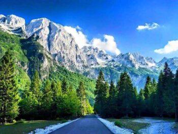 The Alps in Valbona Village in Albania.