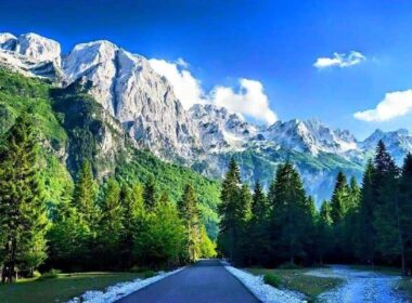 The Alps in Valbona Village in Albania.