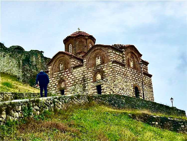 One of the many historic churches throughout the Albanian hills.