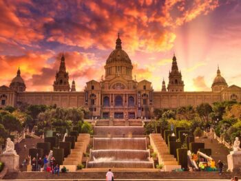 Beautiful building in Barcelona, Spain.