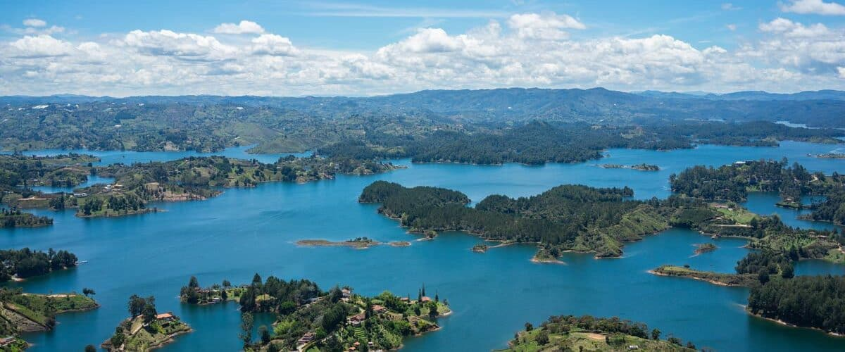 The many colorful islands of Colombia to travel to.