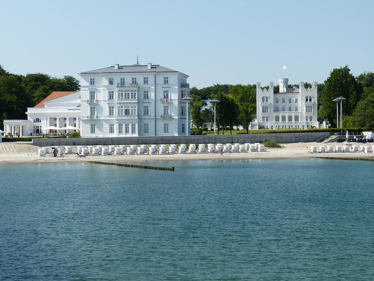 An unforgettable view of the Baltic Sea at the Grand Hotel Heiligendamm in Germany.