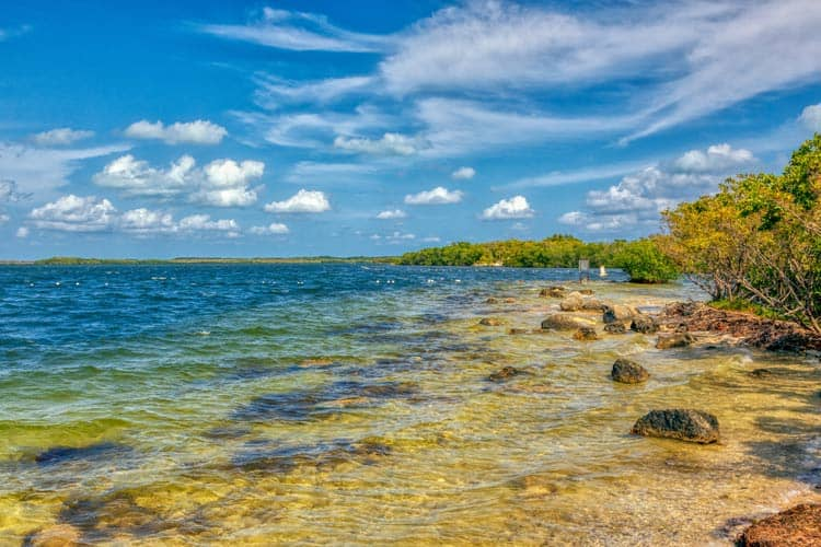 Breath-taking views of the clear water and grove trees are all over the Florida Keys.