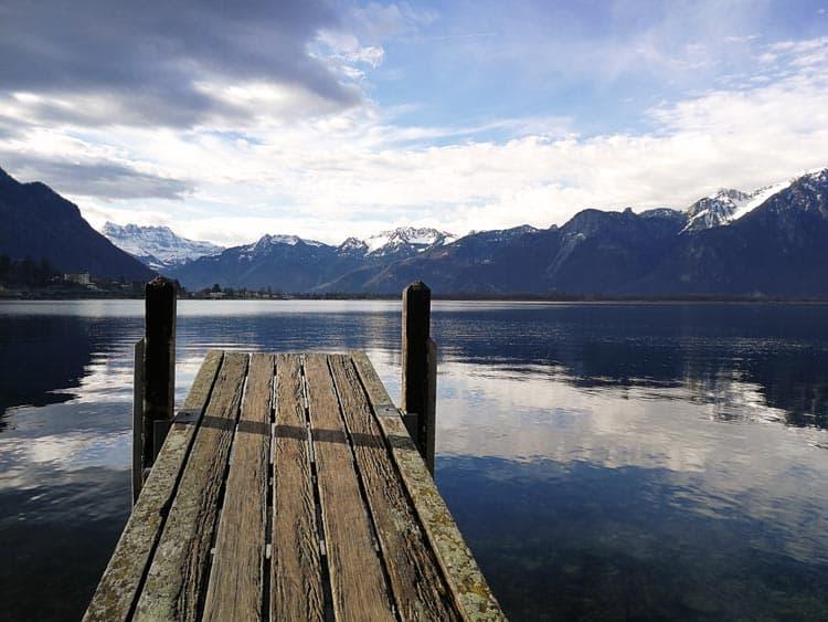 A quiet dock on Lake Geneva, Switzerland.