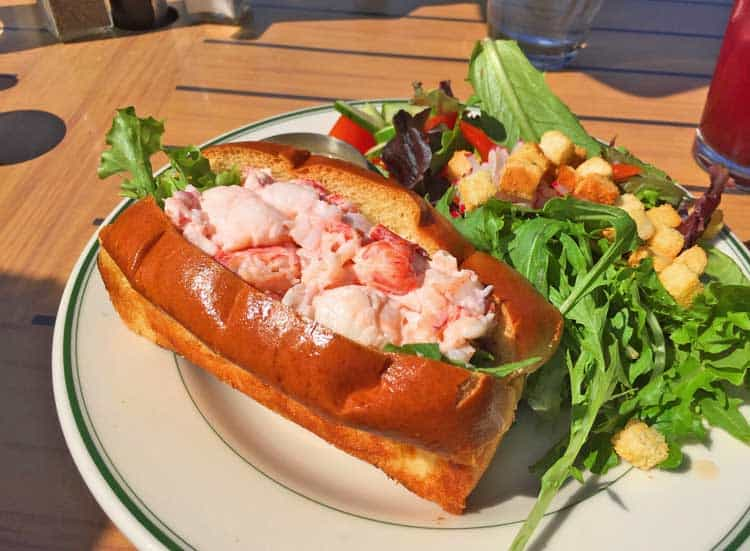 Delicious lobster roll on a frankfurter bun
